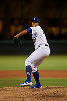 AZL Dodgers Mota relief pitcher Jeffry Abreu (59) during an Arizona League game against the AZL Rangers at Camelback Ranch on June 18, 2019 in Glendale, Arizona. AZL Dodgers Mota defeated AZL Rangers 13-4. (Zachary Lucy/Four Seam Images)