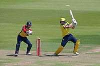 James Vince hits 4 runs for Hampshire during Hampshire Hawks vs Essex Eagles, Vitality Blast T20 Cricket at The Ageas Bowl on 16th July 2021