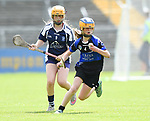 Serena Clancy of Kilkee/Kilbaha in action against Rachel Guerin of Bridgetown during their Schools Division 6 final at Cusack Park. Photograph by John Kelly