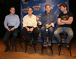 Tom Southrada, Adam Heller, James Hindman and Christian Borle  attends the cast photo call for 'Popcorn Falls' at the Jerry Orbach Theatre on September 6, 2018 in New York City.