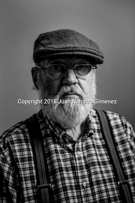 Jose Luis Cuerda poses during a portrait session.