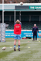 London Scottish warm ups during the Greene King IPA Championship match between Ealing Trailfinders and London Scottish Football Club at Castle Bar , West Ealing , England  on 19 January 2019. Photo by Carlton Myrie/PRiME Media Images