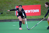 Hawkes Bay v Mid Canterbury. 2021 National Women's Under-18 Hockey Tournament day four at National Hockey Stadium in Wellington, New Zealand on Wednesday, 14 July 2021. Photo: Dave Lintott / lintottphoto.co.nz https://bwmedia.photoshelter.com/gallery-collection/Under-18-Hockey-Nationals-2021/C0000T49v1kln8qk