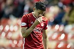 Aberdeen v St Johnstone…..05.02.20   Pittodrie   SPFL<br />Dons new boy Ronald Henradez is subbed<br />Picture by Graeme Hart.<br />Copyright Perthshire Picture Agency<br />Tel: 01738 623350  Mobile: 07990 594431