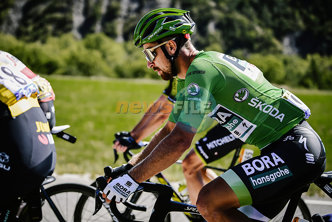 Green Jersey Peter Sagan (SVK) Bora-Hansgrohe in action during Stage 4 of Tour de France 2020, running 160.5km from Sisteron to Orcieres-Merlette, France. 1st September 2020.<br /> Picture: ASO/Pauline Ballet | Cyclefile<br /> All photos usage must carry mandatory copyright credit (© Cyclefile | ASO/Pauline Ballet)