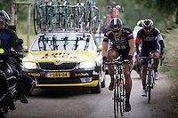 Marcel Kittel (DEU/Giant-Alpecin) is having a hard season so far as he is struggling to keep up on every climb in this stage.<br /> <br /> stage 3: Buchten-Buchten (190km)<br /> 29th Ster ZLM Tour 2015