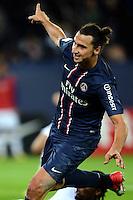 Zlatan IBRAHIMOVIC (psg) - but .Parigi 17/9/2012.Football Calcio 2012/2013 Ligue 1.Psg Vs Tolosa.Foto Anthony Bibard / Panoramic / Insidefoto.ITALY ONLY