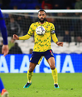 28th September 2021; Cardiff City Stadium, Cardiff, Wales;  EFL Championship football, Cardiff versus West Bromwich Albion; Kyle Bartley of West Bromwich Albion controls the ball on his chest