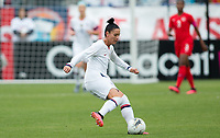 CARSON, CA - FEBRUARY 9: Ali Krieger #11 of the United States moves with the ball during a game between Canada and USWNT at Dignity Health Sports Park on February 9, 2020 in Carson, California.