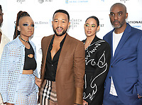 """NEW YORK, NEW YORK - June 10 :Nneka Onuorah, John Legend, Giselle Bailey and Mike Jackson attends the 2012 Tribeca Festival World Premiere of """"""""The Legend Of The Underground"""" on June 10, 2019 at Brookfield Place in New York   City. <br /> Photo Credit: George Napolitano /MediaPunch"""