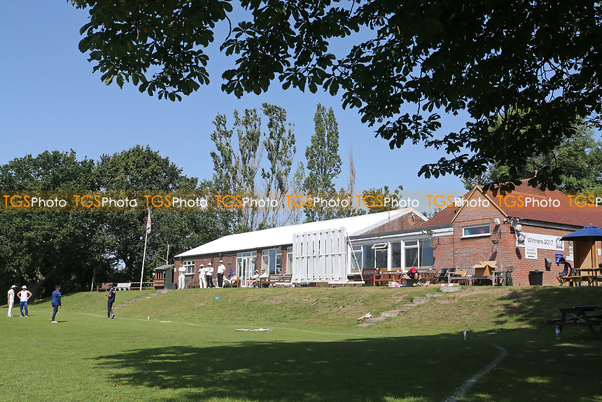 General view of the pavilion during Wanstead and Snaresbrook CC vs Harold Wood CC, Hamro Foundation Essex League Cricket at Overton Drive on 17th July 2021