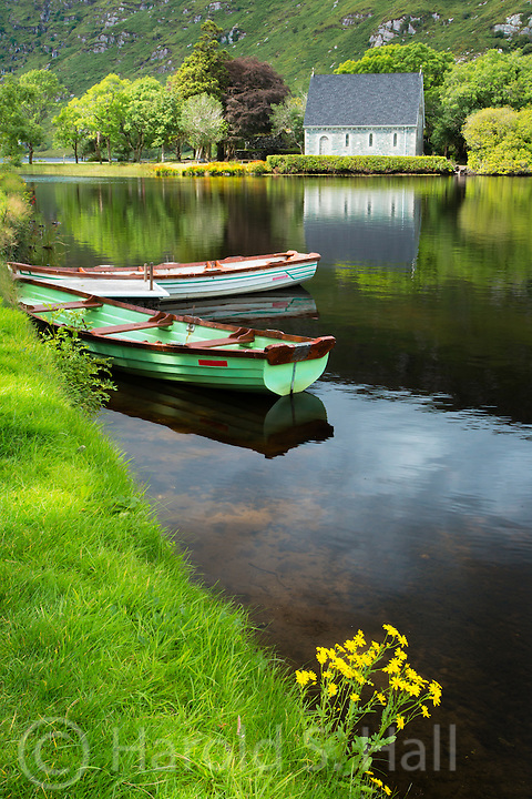 This is more formally named St Finbarr's Oratory in the Gougane Barra Lake in southwestern Ireland.