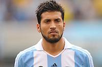 Argentina defender Ezequiel Garay (2) The Argentina National Team defeated Brazil 4-3 at MetLife Stadium, Saturday July 9 , 2012.