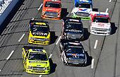 #88: Matt Crafton, ThorSport Racing, Ford F-150 Ideal Door/Menards and #4: Todd Gilliland, Kyle Busch Motorsports, Toyota Tundra Mobil 1