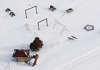 Sugar City playground in winter snow