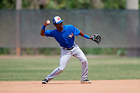 Toronto Blue Jays Samad Taylor (48) during warmups before a Minor League Spring Training game against the Philadelphia Phillies on March 30, 2018 at Carpenter Complex in Clearwater, Florida.  (Mike Janes/Four Seam Images)