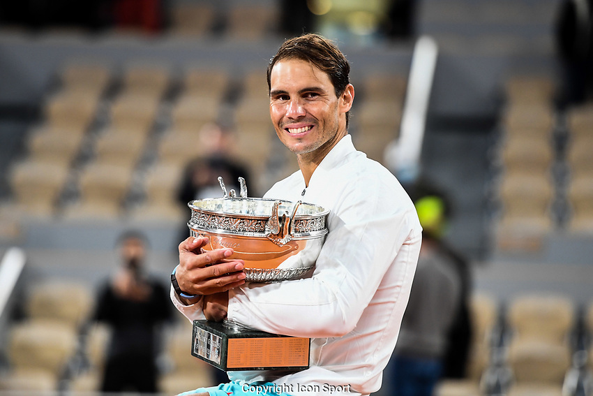 Rafael NADAL of Spain during the day fifteen men's final Roland Garros on October 11, 2020 in Paris, France. (Photo by Anthony Dibon/Icon Sport) - Roland Garros - Paris (France)
