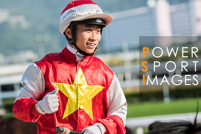 Jockey Dylan H T Mo riding Wah May Friend wins in the Race 6, Lord Kanaloa Handicap, during the Longines Hong Kong International Races at Sha Tin Racecourse on December 10 2017, in Hong Kong, Hong Kong. Photo by Victor Fraile / Power Sport Images