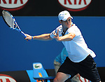 January 20, 2010.Andy Roddick of the USA, in action, defeating Thomaz Bellucci of Brazil 6-3, 6-4, 6-4 in the second round of The Australian Open, Melbourne Park, Melbourne, Australia.