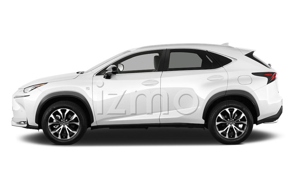 Car Driver side profile view of a 2015 Lexus NX NX 200t F SPORT 5 Door SUV Side View