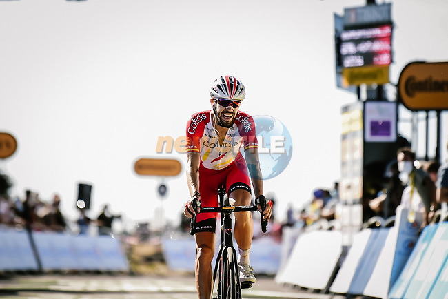 Jesus Herrada (ESP) Cofidis finishes in 2nd place on Mont Aigoual at the end of Stage 6 of Tour de France 2020, running 191km from Le Teil to Mont Aigoual, France. 3rd September 2020.<br /> Picture: ASO/Pauline Ballet | Cyclefile<br /> All photos usage must carry mandatory copyright credit (© Cyclefile | ASO/Pauline Ballet)