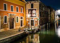Quiet Canal in Venice, Italy