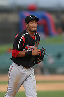 Jose Rondon #8 of the Lake Elsinore Storm during a game against the Lancaster JetHawks at The Hanger on August 2, 2014 in Lancaster, California. Lake Elsinore defeated Lancaster, 5-1. (Larry Goren/Four Seam Images)