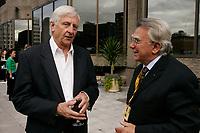 Jacques Godbout (L) and Dan Pita, film maker<br />  (R) at<br /> Closing Reception of the 2006 World Film Festival - Festival des Films du Monde<br /> photo : Roussel  - Images Distribution
