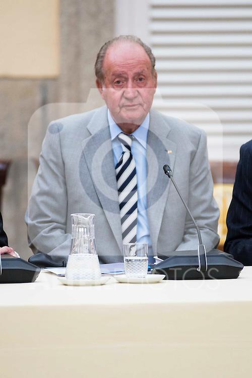 King Juan Carlos during the COTEC Board meeting at El Pardo Palace in Madrid. June 08. 2016. (ALTERPHOTOS/Borja B.Hojas)