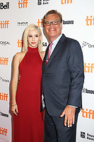 DIRECTOR AARON SORKIN AND HIS DAUGHTER - RED CARPET OF THE FILM 'MOLLY'S GAME' - 42ND TORONTO INTERNATIONAL FILM FESTIVAL 2017 . TORONTO, CANADA, 09/09/2017. # FESTIVAL DU FILM DE TORONTO - RED CARPET 'MOLLY'S GAME'