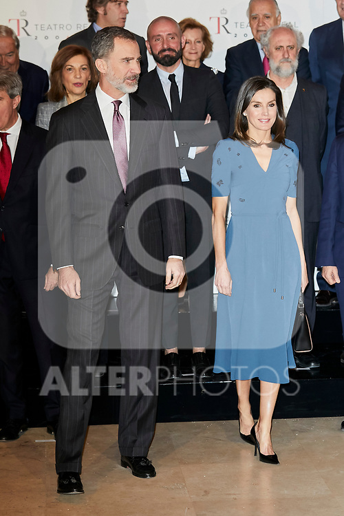 King Felipe VI of Spain and Queen Letizia of Spain attends to Meeting of the Teatro Real Foundation board of Directors at Teatro Real in Madrid, Spain. February 07, 2019. (ALTERPHOTOS/A. Perez Meca)