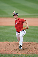 Erie SeaWolves pitcher Drew Carlton (23) during an Eastern League game against the Altoona Curve on June 5, 2019 at UPMC Park in Erie, Pennsylvania.  Altoona defeated Erie 6-2.  (Mike Janes/Four Seam Images)