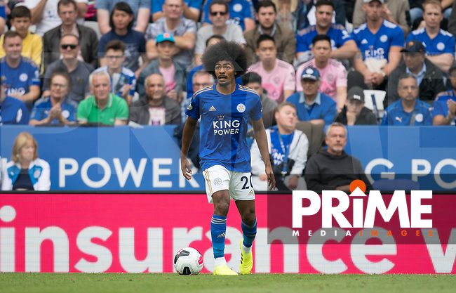 Hamza Choudhury of Leicester City during the Premier League match between Leicester City and Wolverhampton Wanderers at the King Power Stadium, Leicester, England on 10 August 2019. Photo by Andy Rowland.