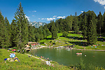 Deutschland, Bayern, Oberbayern, Werdenfelser Land, Kruen: ein Sommertag am Grubsee | Germany, Upper Bavaria, Werdenfelser Land, Kruen: summer scenery at lake Grubsee