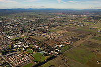 aerial photograph of Sonoma State University, Rohnert Park, Sonoma County, California