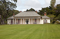 Waitangi Treaty House, Paihia, north island, New Zealand.  Here, in 1840, the treaty leading to British sovereignty over New Zealand was signed between the British and Maori people.