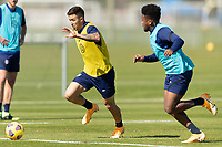 BRADENTON, FL - JANUARY 19: Aaron Herrera moves with the ball during a training session at IMG Academy on January 19, 2021 in Bradenton, Florida.