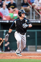 Syracuse Chiefs designated hitter Greg Dobbs (22) at bat during a game against the Buffalo Bisons on July 23, 2014 at Coca-Cola Field in Buffalo, New  York.  Syracuse defeated Buffalo 5-0.  (Mike Janes/Four Seam Images)
