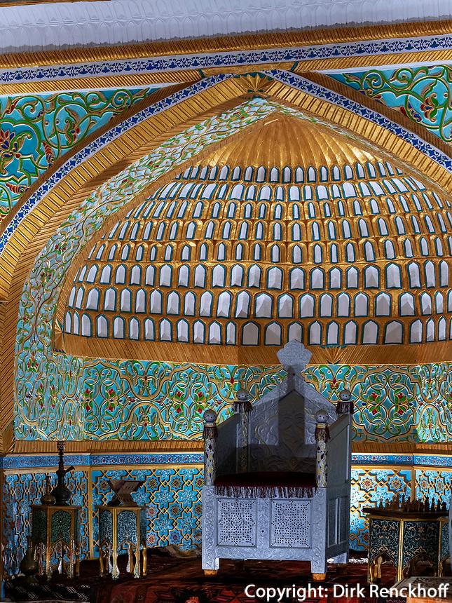 Thronsaal im Fort, Xiva, Usbekistan, Asien, UNESCO-Weltkulturerbe<br /> Throne hall in side the fortress, historic city Ichan Qala, Chiwa, Uzbekistan, Asia, UNESCO heritage site
