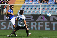 Tommaso Augello of UC Sampdoria scores the goal of 2-2 during the Serie A football match between UC Sampdoria and FC Internazionale at stadio Marassi in Genova (Italy), September 12th, 2021. Photo Image Sport / Insidefoto