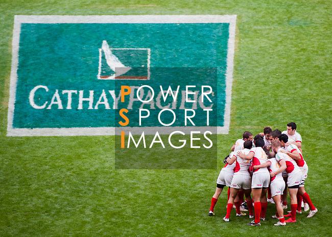Zimbabwe play Mexico on Day 1 of the Cathay Pacific / HSBC Hong Kong Sevens 2013 at Hong Kong Stadium, Hong Kong. Photo by Manuel Queimadelos / The Power of Sport Images