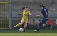 Waasland Beveren Sinaai Girls - Famkes Merkem : .Kwartfinale beker van België 2011-2012 : Steffi De Pelsmaecker..foto DAVID CATRY / JOKE VUYLSTEKE / Vrouwenteam.be