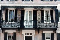 Charleston: Charleston House--detail of grillwork.  Photo '78.