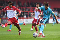 Sam Nombe of Exeter City during Stevenage vs Exeter City, Sky Bet EFL League 2 Football at the Lamex Stadium on 9th October 2021