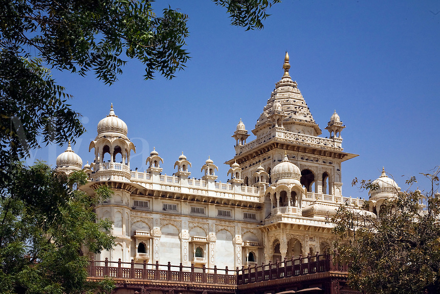 The white marble JASWANT THANDA was built in 1899 as a memorial to MAHARAJA JASWANT SINGH ll - JODHPUR, RAJASTHAN, INDIA