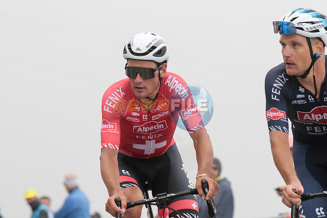 Swiss Champion Silvan Dillier (SUI) Alpecin-Fenix on Col du Portet during Stage 17 of the 2021 Tour de France, running 178.4km from Muret to Saint-Lary-Soulan Col du Portet, France. 14th July 2021.  <br /> Picture: Colin Flockton | Cyclefile<br /> <br /> All photos usage must carry mandatory copyright credit (© Cyclefile | Colin Flockton)
