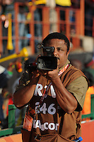 A video cameraman documents being documented by a still photographer at Pretoria's Loftus Versfeld Stadium. Ghana defeated Serbia, 1-0, June 13th, in the opening match of Group D of the 2010 FIFA World Cup.