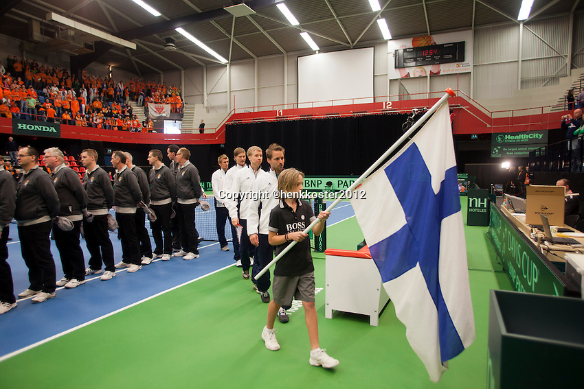 10-02-12, Netherlands,Tennis, Den Bosch, Daviscup Netherlands-Finland, Presentatie