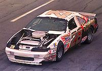Davey Allison damaged race car after crash Daytona 500 at Daytona International Speedway on February 19, 1989.  (Photo by Brian Cleary/www.bcpix.xom)