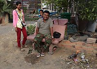 Battambang - Cambodia - June 2020<br /> -  early morning near construction of sewer pipes